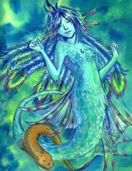 Peacock Mermaid by raerae