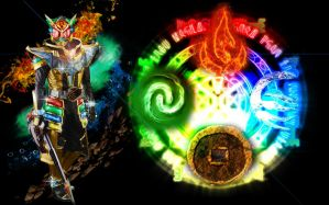 Kamen Rider Wizard Infinity Element Dragon by tuanenam