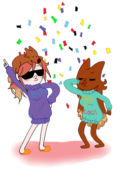 SWEATER PARTaY by Ask-FoxyQueen