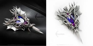 ARDARMATH DRACO Silver and Alexandrite by LUNARIEEN