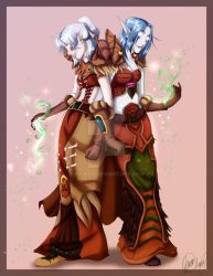 Commission - WoW Druids by br3nna