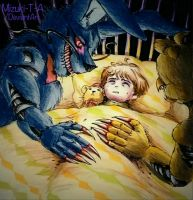 Our lullaby / Nightmare Bonnie  N Chica FNaF 4 by Mizuki-T-A