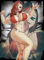 Jessica Rabbit - Zyzz pose tribute by nekolab