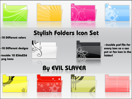 Stylish Folders Icon Set by Evil-Slayer