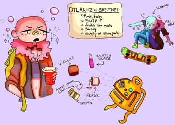 Dylan Character Sheet by GoatKidCryptid