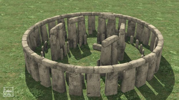 Blender - Stonehenge 10 by Ludo38