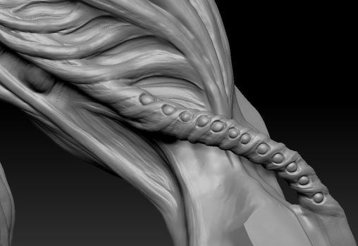 highpoly sculpt 02 pipe detail by Indrome