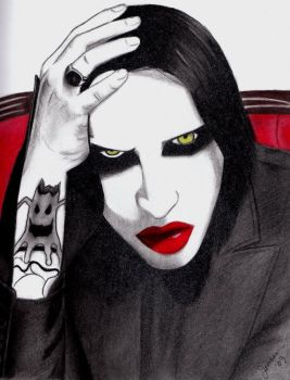 Marilyn Manson by HappyRaincloud