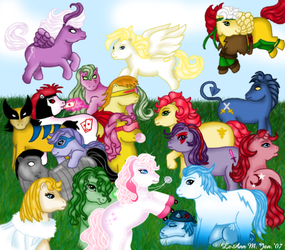 My Little X-Men Ponies by ForeverRogue