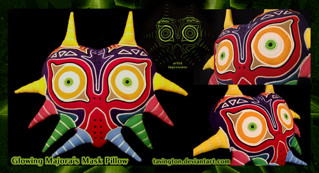 Glowing Majora's Mask Pillow by tavington