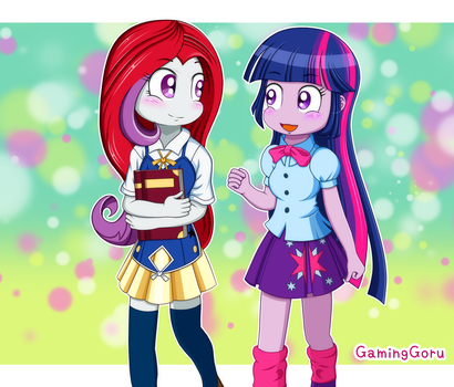 .: Twilight and Moondancer :. by GamingGoru