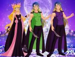 Neo Queen Alyssa and her sons Prince Isa and Princ by Bluediamondpikachu83