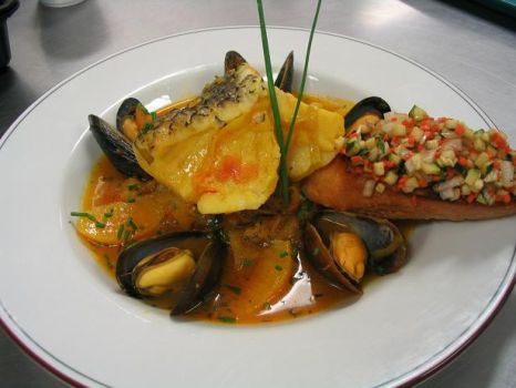 Seabass and Mussels by Option--Zero