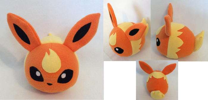 :PKMN: Flareon Poke Bean Plush (for sale) by MiharutheKunoichi