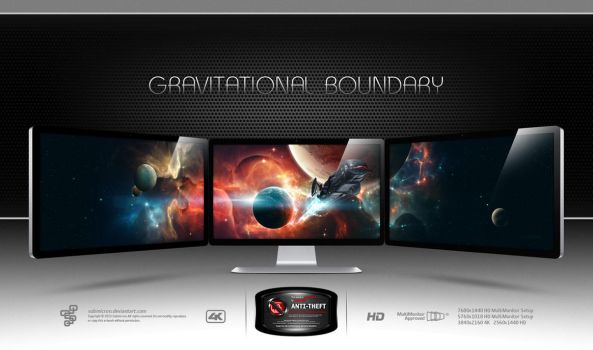 Gravitational Boundary by submicron