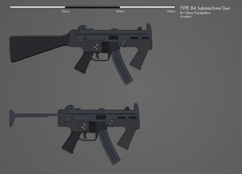 Type 84 Submachine Gun by Praddles by snapshot-anterra