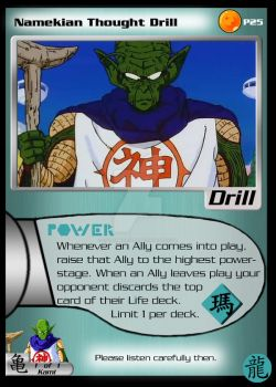 Namekian Thought Drill by OniGamemaster
