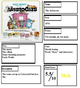 Pros and Cons: The Aristocats by Spongey444