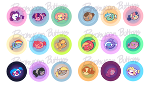 Bronycon - My Little Chubbies Button Set 1 by pekou