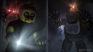 Five Nights at Freddy's 4 Nightmares (4k SFM) by gold94chica