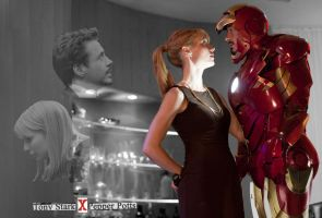 tony and pepper wallpaper by nissniss