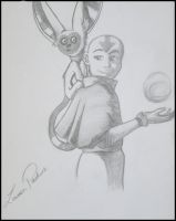 Aang and Momo by Lauren-Paikin
