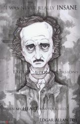 Edgar Allan Poe by ChrisOzFulton
