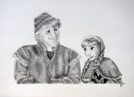 Anna and Kristoff by MaiaSketches