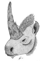 young unicorn : Elasmotherium by painted-wolfs-den