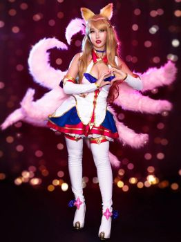 Star Guardian Ahri Cosplay from League of Legends by RinnieRiot