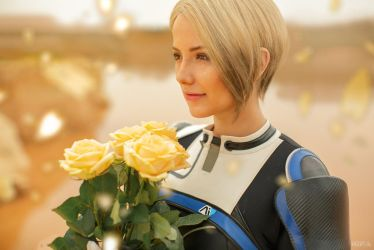 A dream about a rose garden (Mass Effect cosplay) by niamash