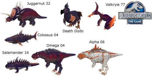 Jurassic World the Game-All Bosses by KaprosuchusTheMighty