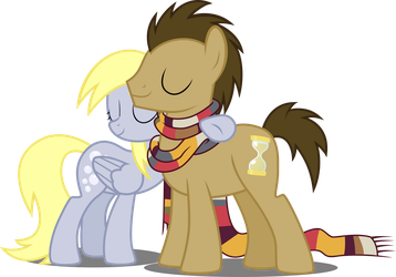 Derpy and Doctor by Drakizora