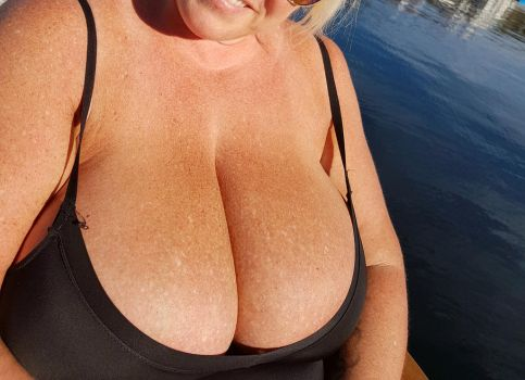 Enjoying the sun at the dock this morning. by Cleavage3
