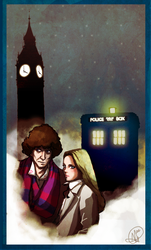 Doctor Who : Four and Romana II by supinternets
