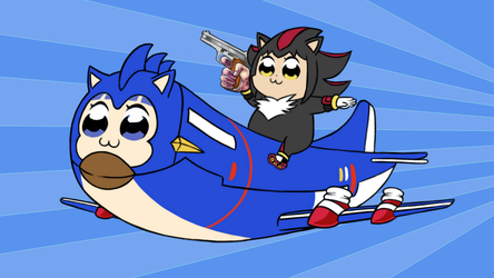 Pop team Epic - Supersonic Fighter-plane! by Zack113