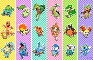 Pokemon Starters by Red-Flare
