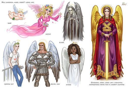 How correctly to depict angels? by Develv