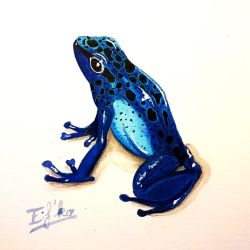 Blue dendrobate by Eif-ka