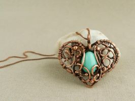 Mint Heart2 01 by UrsulaJewelry