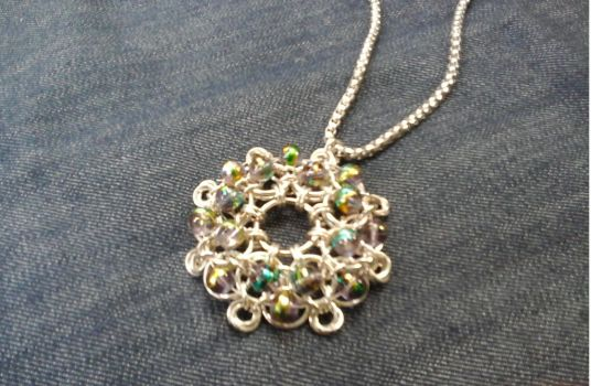 Tejidomedieval explore tejidomedieval on deviantart chainmaille pendant by julia evs mozeypictures Image collections