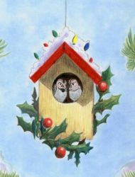 Christmas 2009 Birdhouse by calzephyr