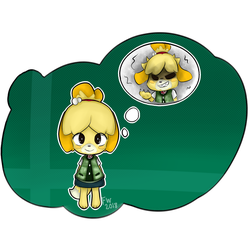 Isabelle for Smash! by ForgottenWinds