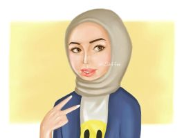 Kuwaiti Girl :P by marik-devil