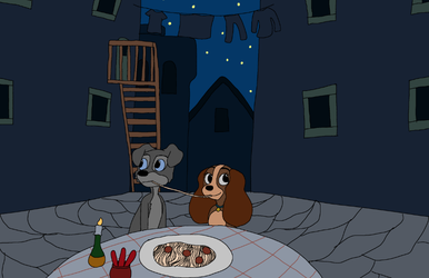 Lady and the Tramp (1955) by Captainpizzapie