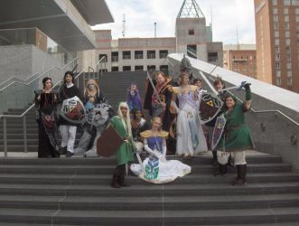 AZ 09 - Zelda Group Shot by Blueoriontiger