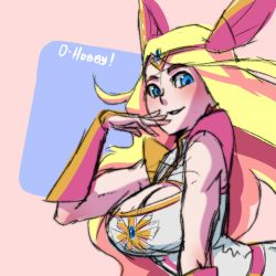 She Ra Sketch with Color by OppaiHobby