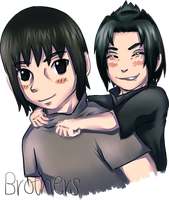 Uchiha brothers by TaNa-Jo
