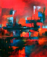 Abstract Scenery oil paint by Boias