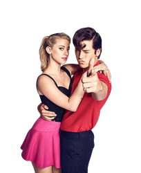Cole Sprouse and Lili Reinhart PNG by cattitudex